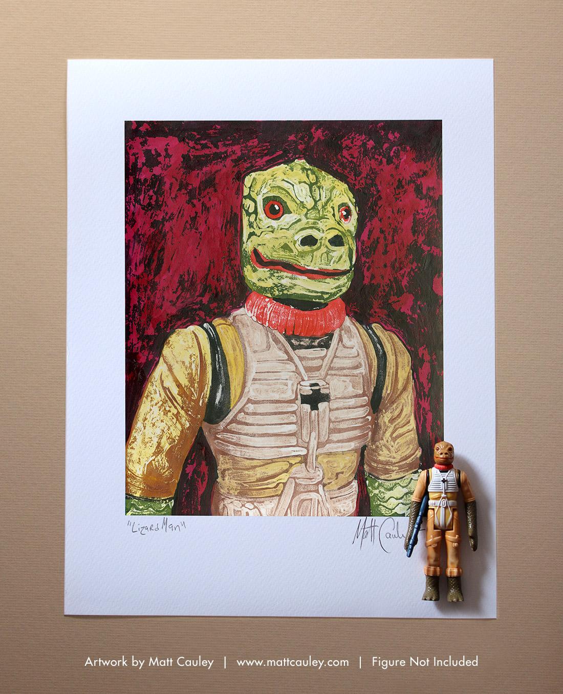 LANDO CALRISSIAN Vintage Kenner Star Wars Action Figure ORIGINAL ART PRINT 3.75