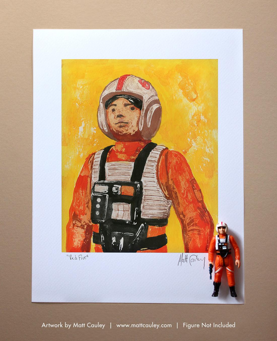 BOSSK Vintage Kenner Star Wars Action Figure ORIGINAL ART PRINT 3.75 ESB