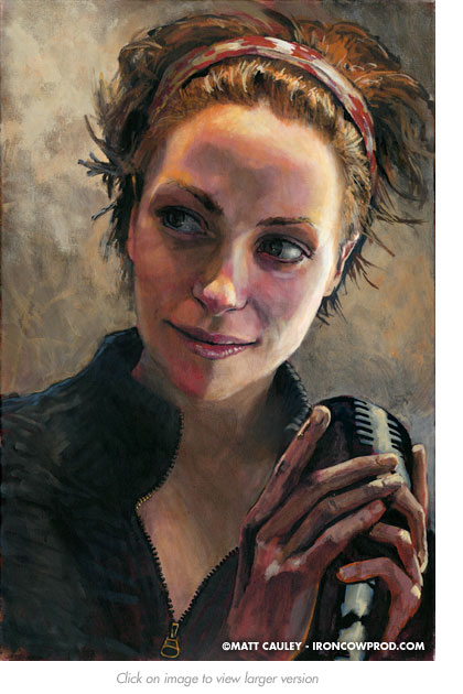 """""""Danielle"""" Acrylic on canvas. 20 x 30 inches. Painted 2008 by Matt Cauley"""