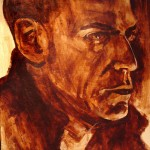 """""""Mike (Underpainting)"""" Acrylic on canvas. 20 x 30 inches. Painted 2008 by Matt Cauley"""