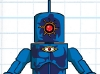 DC Wave1: OMAC Minimate Design (Early Concept Art) - by Matt \'Iron-Cow\' Cauley