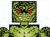 DC Wave3: Killer Croc Minimate Design (Early Concept Artwork) - by Matt \'Iron-Cow\' Cauley