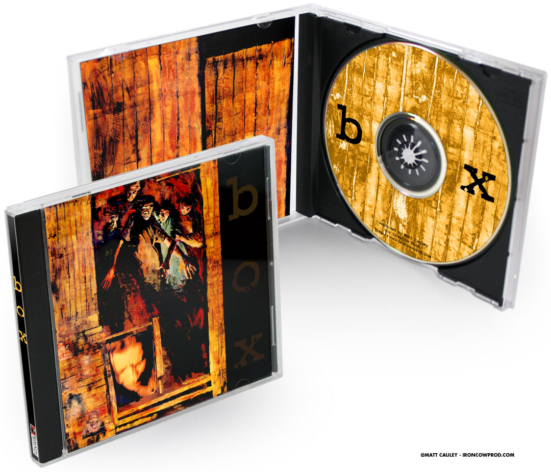 """BOX"" The BOX artwork was used on a promotional cd, featuring angst-ridden tracks from The Cure, Stone Temple Pilots, Radiohead and more..."
