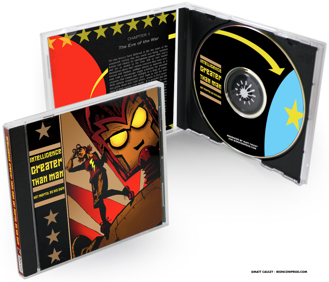 """Intelligence Greater Than Man, Yet Mortal As His Own"" CD package"