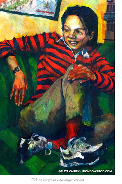 """""""Lulu"""" Acrylic on panel. 20 x 30 inches. Painted 2004 by Matt Cauley"""