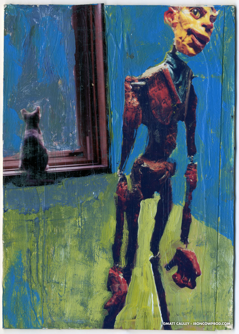 """Inside"" (detail) - Illustration by Matt 'Iron-Cow' Cauley"