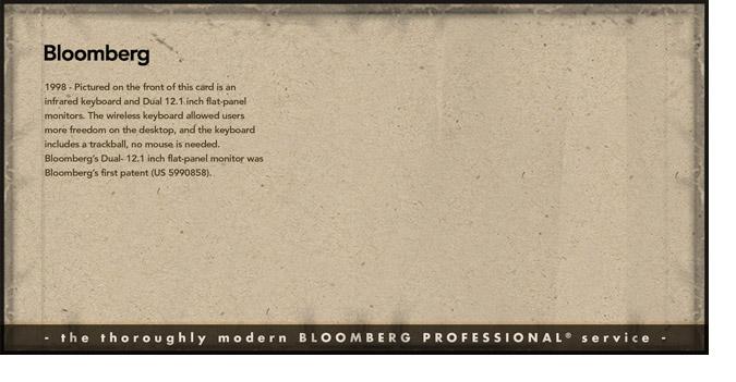 Bloomberg Retro Postcard: Backside