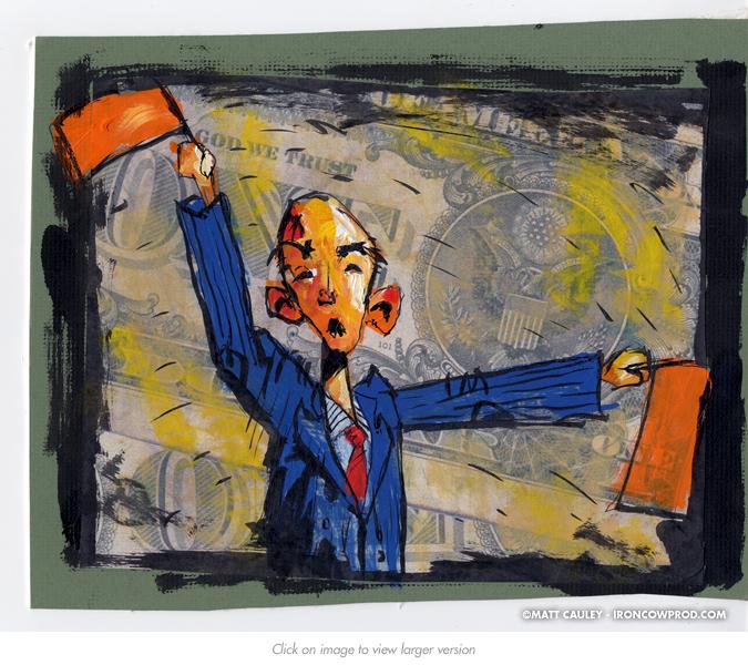 """Role of the Corporate Treasurer"" (Bonus2) - Illustration by Matt 'Iron-Cow' Cauley"
