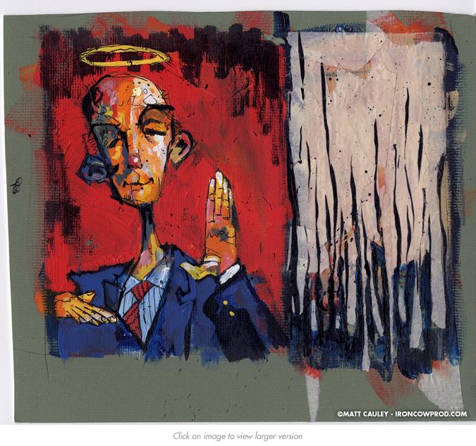 """Role of the Corporate Treasurer"" (Bonus1) - Illustration by Matt 'Iron-Cow' Cauley"
