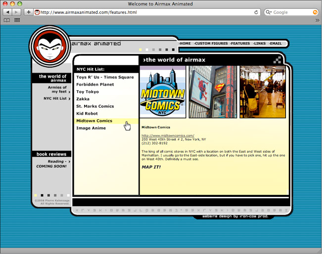 Airmax Animated Features Page