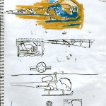 "U.S.S. INTREPID SKETCHBOOK by Matt 'Iron-Cow' Cauley - ""Chopper Studies"""
