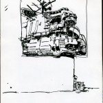 "U.S.S. INTREPID SKETCHBOOK by Matt 'Iron-Cow' Cauley - ""Control Tower"""
