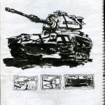 "U.S.S. INTREPID SKETCHBOOK by Matt 'Iron-Cow' Cauley - ""Tank"""