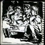 "U.S.S. INTREPID SKETCHBOOK by Matt 'Iron-Cow' Cauley - ""Visitors"""