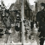 "EPCOT SKETCHBOOK by Matt 'Iron-Cow' Cauley - ""Village"""