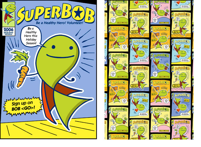 SuperBOB Comic Cover and Addl Artwork
