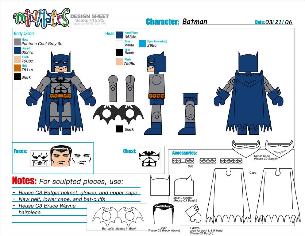 DC Wave1: Batman Minimate Design (Control Art Only) - by Matt 'Iron-Cow' Cauley