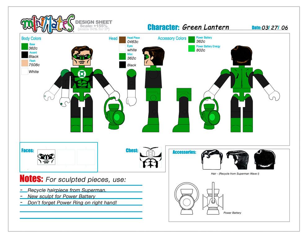 DC Wave1: Green Lantern Minimate Design (Control Art Only) - by Matt 'Iron-Cow' Cauley