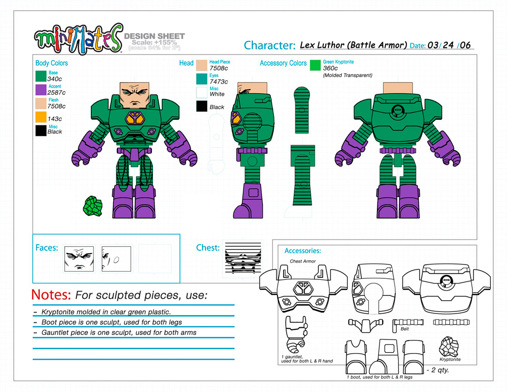 DC Wave1: Lex Luthor Minimate Design (Control Art Only) - by Matt 'Iron-Cow' Cauley