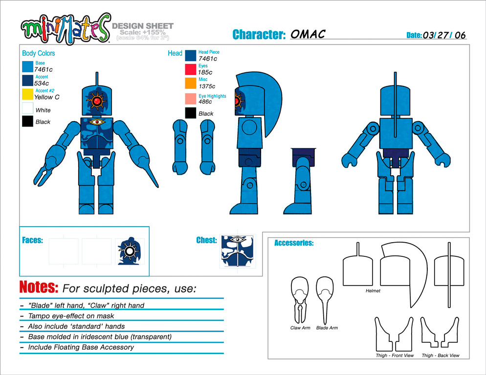 DC Wave1: OMAC Minimate Design (Control Art Only) - by Matt 'Iron-Cow' Cauley