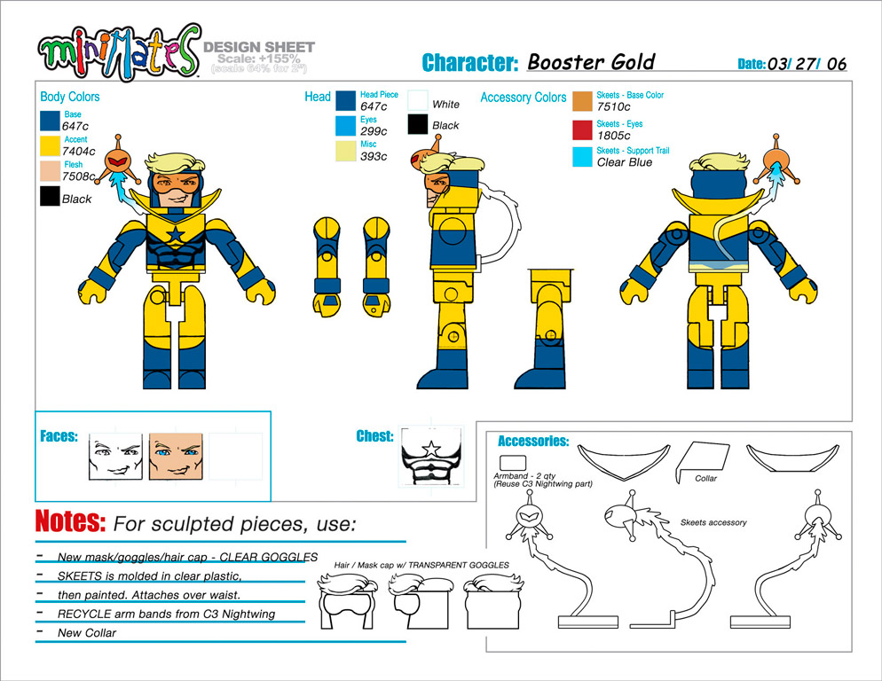 DC Wave2: Booster Gold Minimate Design (Control Art Only) - by Matt 'Iron-Cow' Cauley