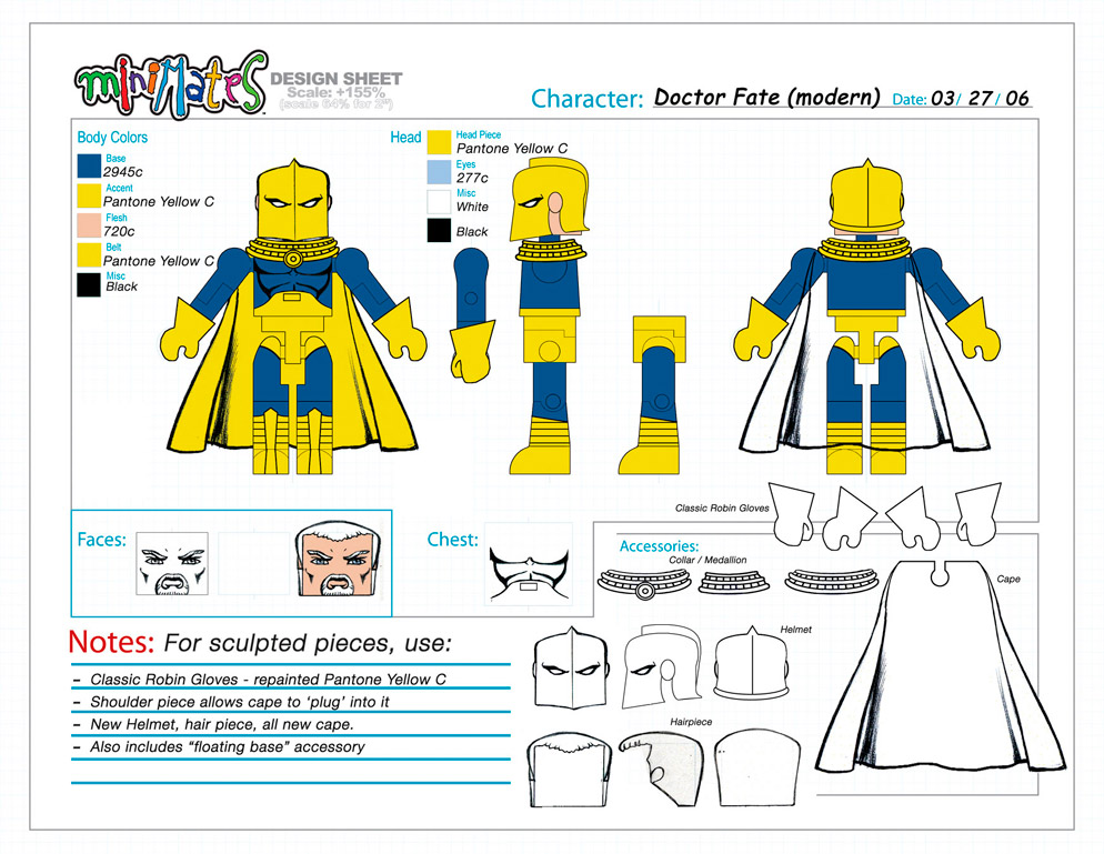 DC Wave2: Dr. Fate Minimate Design (Control Art Only) - by Matt 'Iron-Cow' Cauley