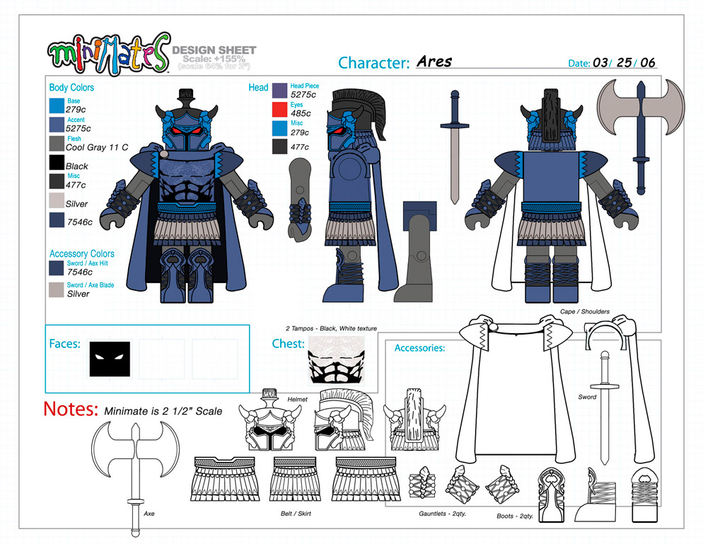 DC Wave3: Ares Minimate Design (Control Art Only) - by Matt 'Iron-Cow' Cauley