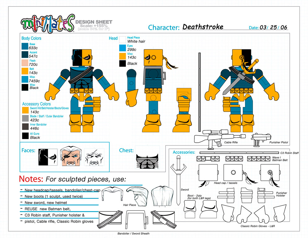 DC Wave3: Deathstroke Minimate Design (Control Art Only) - by Matt 'Iron-Cow' Cauley