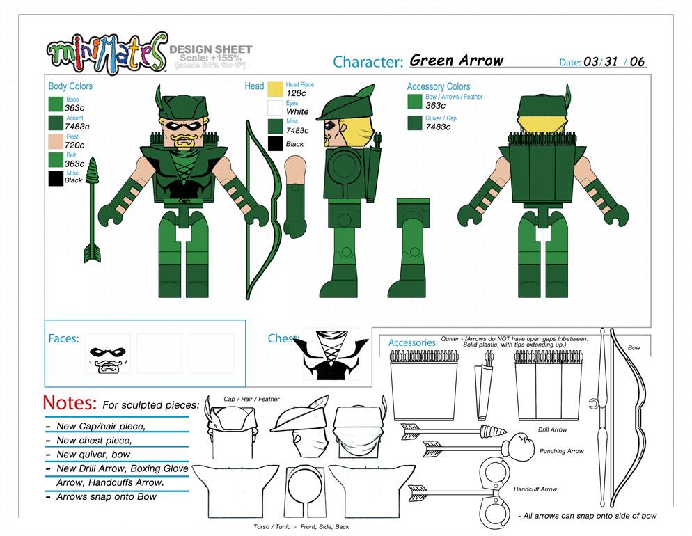 DC Wave3: Green Arrow Minimate Design (Control Art Only) - by Matt 'Iron-Cow' Cauley