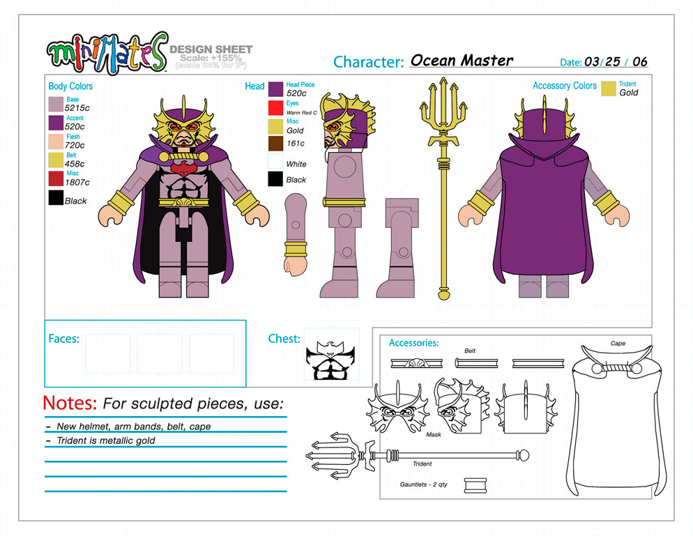DC Wave3: Ocean Master Minimate Design (Control Art Only) - by Matt 'Iron-Cow' Cauley