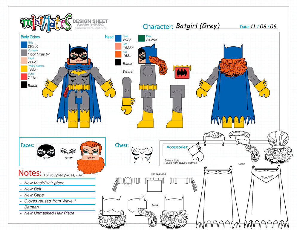 DC Wave4: Batgirl Minimate Design (Control Art Only) - by Matt 'Iron-Cow' Cauley