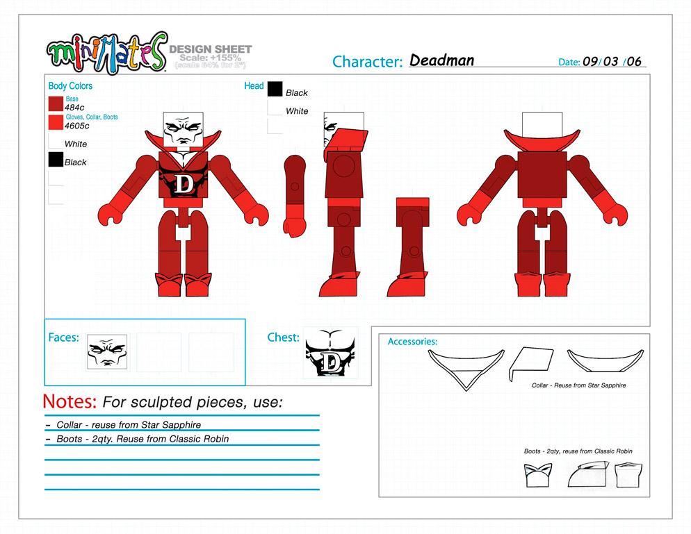 DC Wave4: Deadman Minimate Design (Control Art Only) - by Matt 'Iron-Cow' Cauley