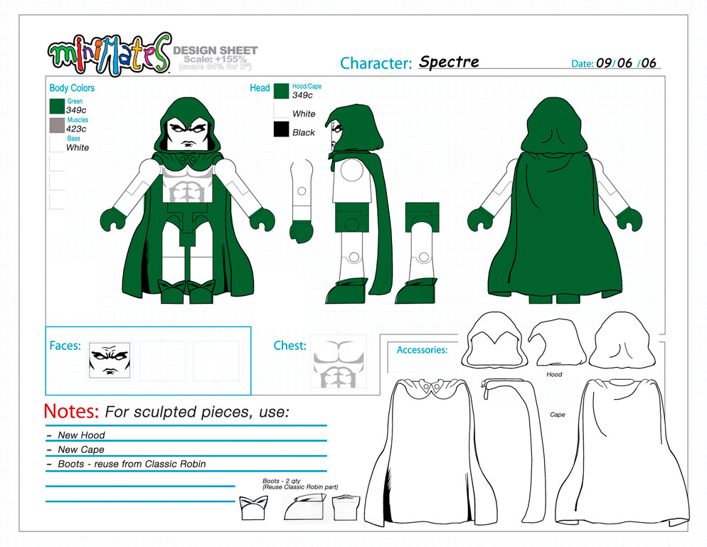 DC Wave4: Spectre Minimate Design (Control Art Only) - by Matt 'Iron-Cow' Cauley