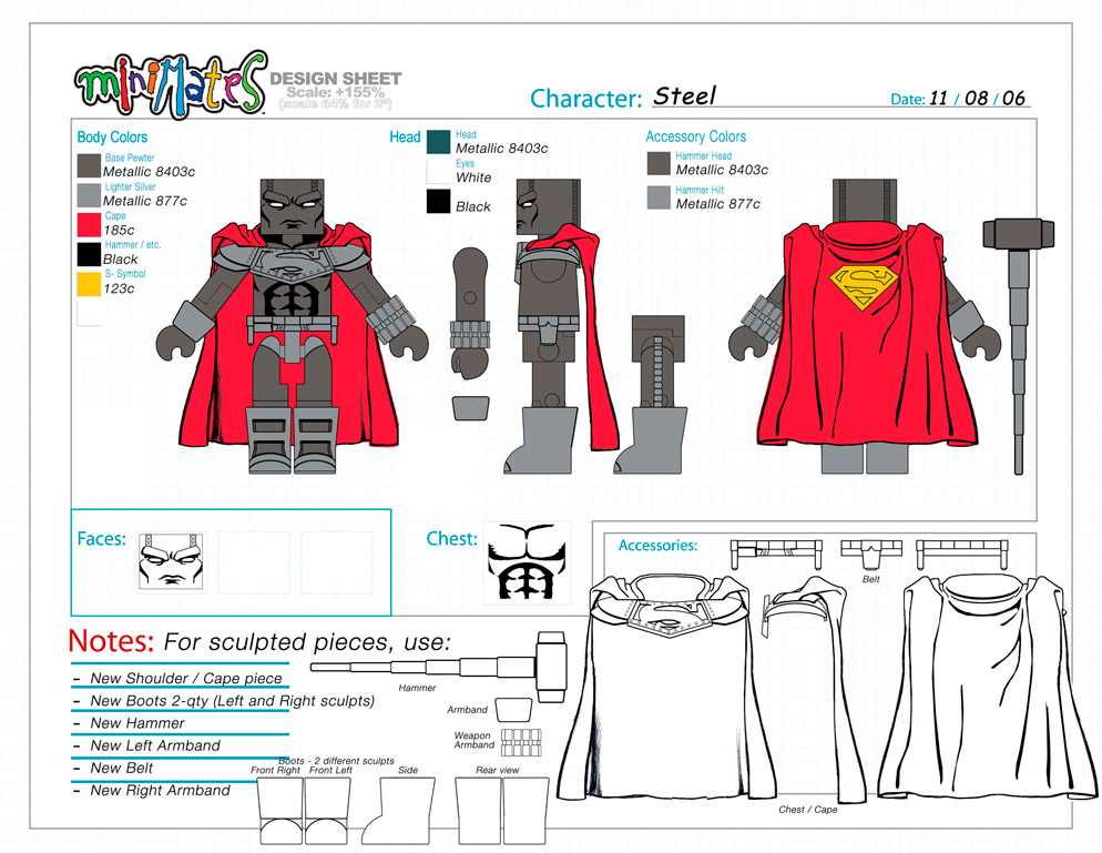 DC Wave4: Steel Minimate Design (Control Art Only) - by Matt 'Iron-Cow' Cauley