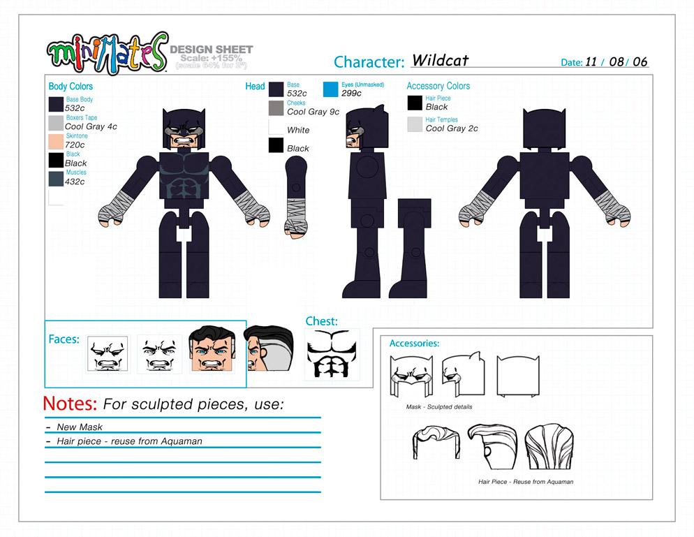 DC Wave4: Wildcat Minimate Design (Control Art Only) - by Matt 'Iron-Cow' Cauley