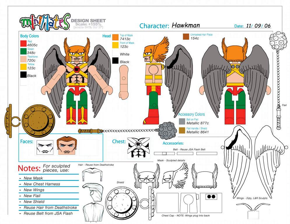 DC Wave5: Hawkman Minimate Design (Control Art Only) - by Matt 'Iron-Cow' Cauley