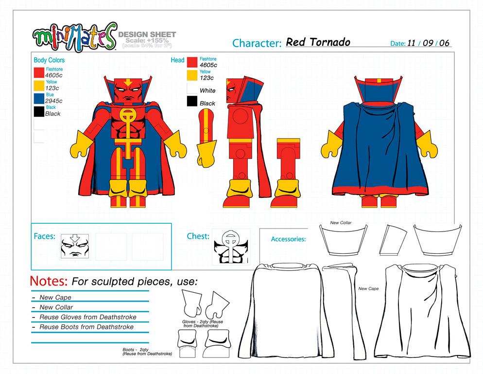 DC Wave5: Red Tornado Minimate Design (Control Art Only) - by Matt 'Iron-Cow' Cauley