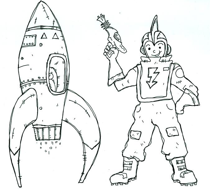 Astronaut - Illustration by Matt 'Iron-Cow' Cauley