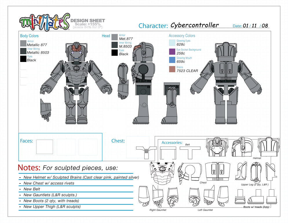 Doctor Who: Cyber Controller Minimate Design (Control Art Only) - by Matt 'Iron-Cow' Cauley
