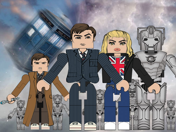 Doctor Who: Minimate Promotional Art - by Matt 'Iron-Cow' Cauley