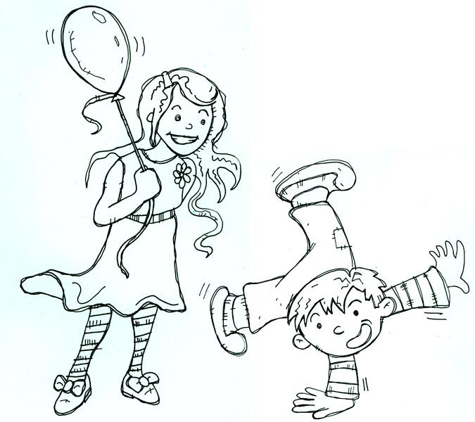 Girl & Boy - Illustration by Matt 'Iron-Cow' Cauley