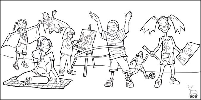 Early Kids Banner - Illustration by Matt 'Iron-Cow' Cauley
