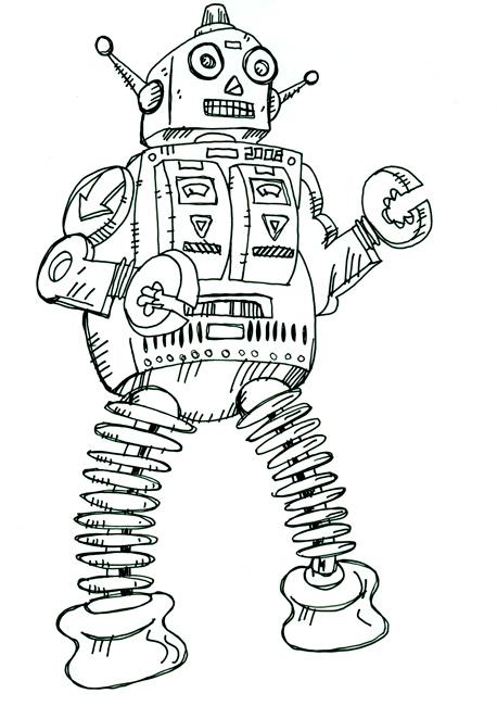 Robot - Illustration by Matt 'Iron-Cow' Cauley