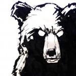 "BULL vs. BEAR SKETCHBOOK by Matt 'Iron-Cow' Cauley ""Bear Portrait"""