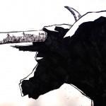 "BULL vs. BEAR SKETCHBOOK by Matt 'Iron-Cow' Cauley ""Bull Back"""