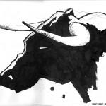 """BULL vs. BEAR SKETCHBOOK by Matt 'Iron-Cow' Cauley """"Bull Profile"""""""