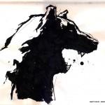 "BULL vs. BEAR SKETCHBOOK by Matt 'Iron-Cow' Cauley ""Bear Profile"""