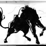 "BULL vs. BEAR SKETCHBOOK by Matt 'Iron-Cow' Cauley ""Bull Stance"""