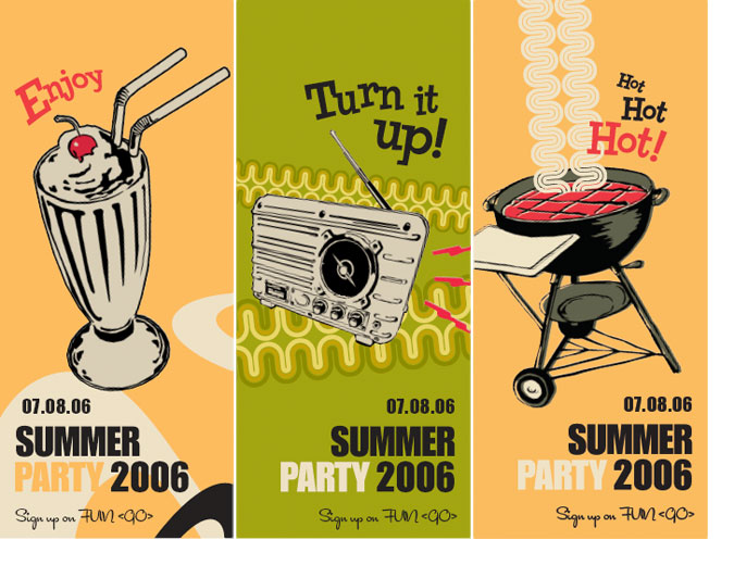 Summer Party Illustrations - Banners