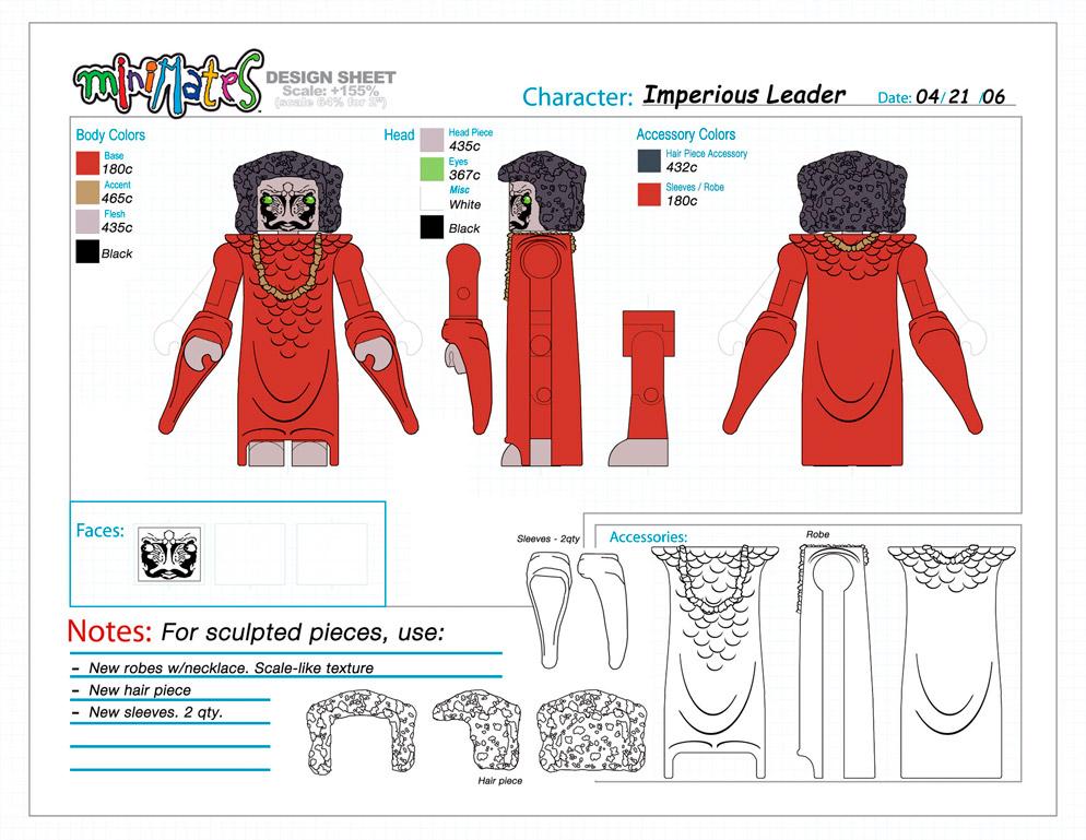 Battlestar Galactica: Lucifer Minimate Design (Control Art Only) - by Matt 'Iron-Cow' Cauley